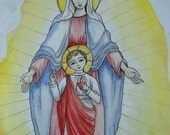 Our Lady of The Sacred Heart Print