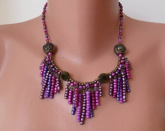 Pink and Purple Necklace - Speacial Design