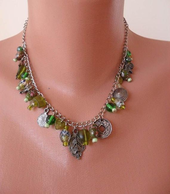 Green Glass Bead Necklace - Speacial Design
