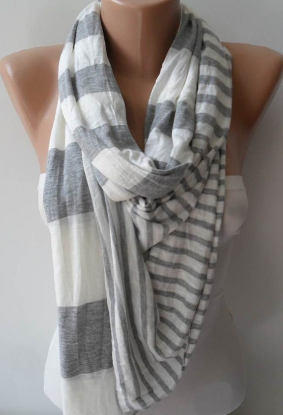 Light Grey and Beige Scarf