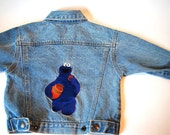 Cookie Monster Jean Jacket (Size 3T)