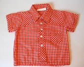 Baby/Toddlers Gingham Shirt (Size 12 Months)