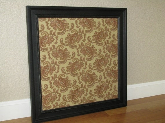 Fabric lined magnetic memo board 16x16