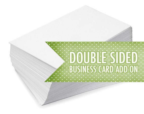 Double Sided Business Card Add On. Custom Business Card Design