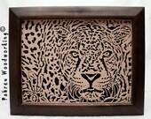 "Scroll Saw Fretwork Portrait - ""Jaguar"""
