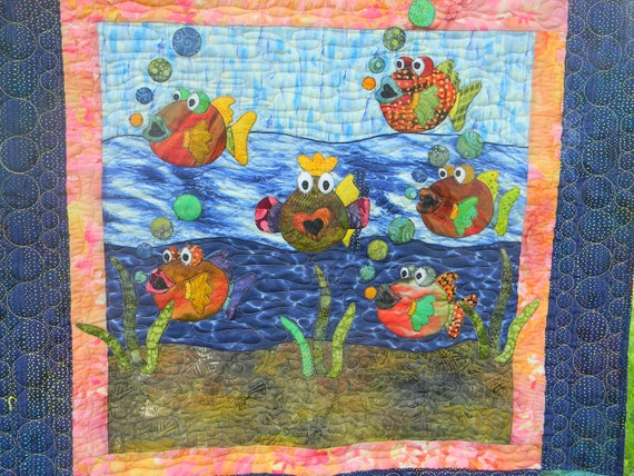School of Fish Crib Quilt