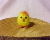 Needle Felted Chick -  miniature Easter Chick figure - 100% merino wool