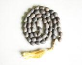 Indian Lotus Seed Meditation Mala with Yak Bone