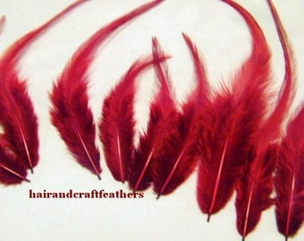 Craft Feathers - Red Craft Feathers - Crushed Red Velvet