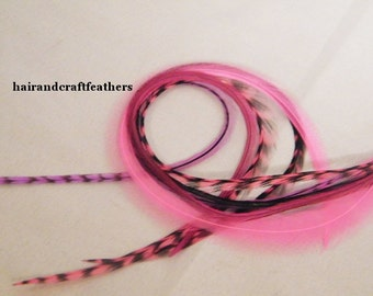 Valentines Day Feathers Hair Feathers Extensions Prom Dress Pink