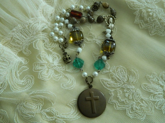 Religious Assemblage Necklace