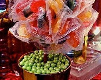 Rainbow Lollipop Sucker Candy Land Centerpiece Vase, Candy Buffet Decor, Candy Arrangement Wedding, Mitzvah, Party Favor, Candy Creation