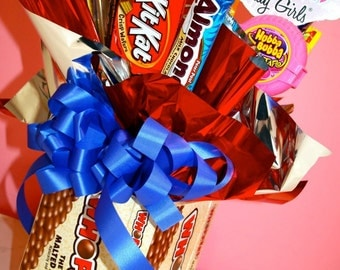 Whopper Chocolate Candy Bouquet  Centerpiece, Candy Buffet Decor, Candy Arrangement Wedding, Mitzvah, Party Favor, Candy Creation