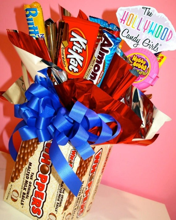 Whopper chocolate candy bouquet by hollywoodcandygirls on etsy