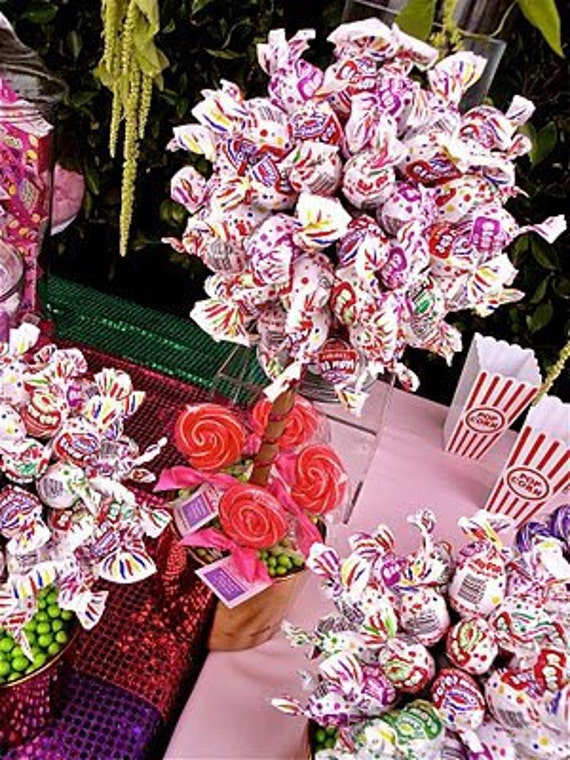 Blow pop lollipop candy land topiary centerpiece vase