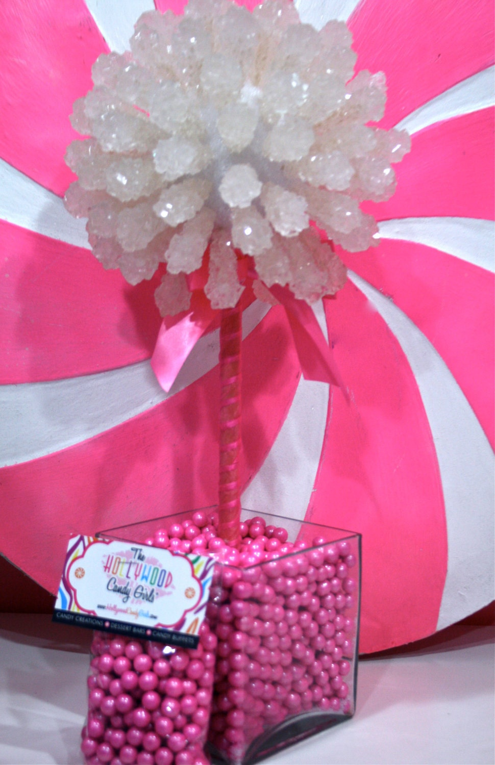 Pink baby girl shower rock candy by hollywoodcandygirls on