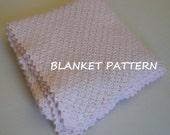 Crochet baby blanket pattern. Really easy. PDF 004.
