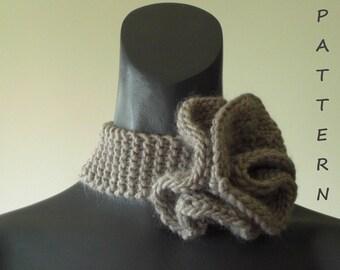 Knitting Pattern Flower Collar Scarf + Free Knitting Scarf Pattern.PDF 015.