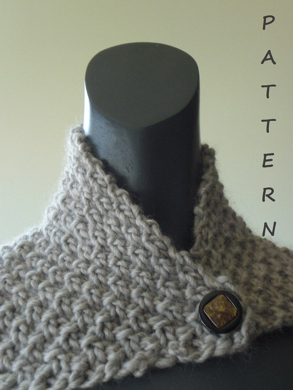 Simple Knit Cowl Pattern : Knitting cowl pattern. Easy and quick neckwrap cowl by vivartshop
