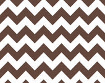 Medium Chevron in Brown, Riley Blake Designs, 1 yard cut