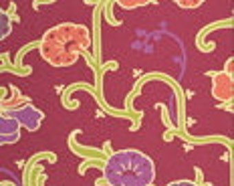 Amy Butler Gypsy Caravan- Velvet VIne in Grape -Rosa Palette in One Yard Cut