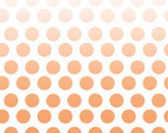 Ombre Dot Orange, Half Yard Cut