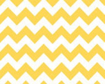 Medium Yellow Chevron:  Riley Blake, Half Yard Cut