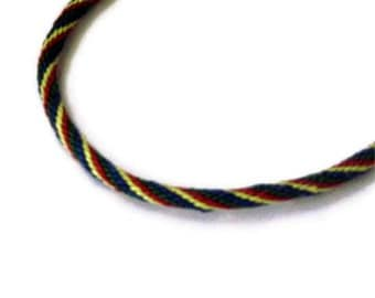 Braided bracelet - kumihimo multicolor braid -  XL - for him or her - rainbow colors