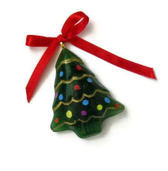 Christmas Tree Ornaments Etsy: Items Similar To Fused Glass Tree Ornament
