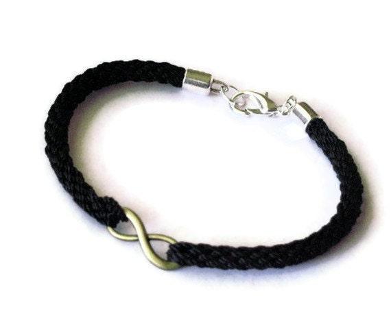Men's infinity kumhimo braid bracelet - XL