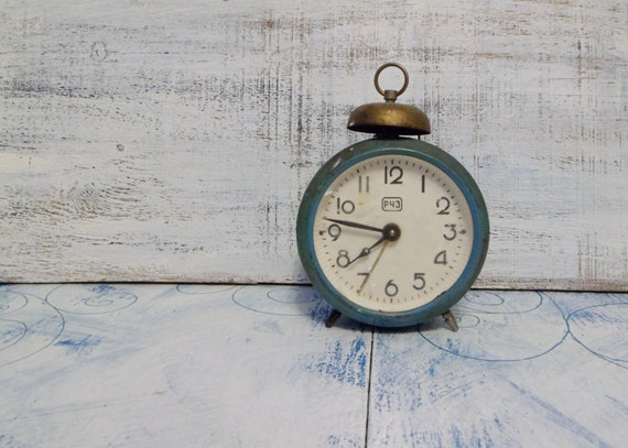 Soviet, Russian vintage table clock for decor or parts (not working)