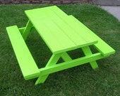 Children's Picnic Bench, Lime Green 4-Foot