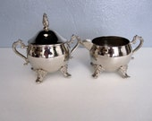Vintage Silver Plated Cream and Sugar Bowls