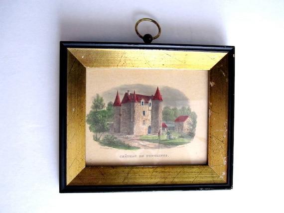 Vintage Framed French Print