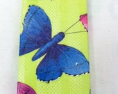 case iphone 4s case , case for Iphone 4 ,mobile Case handmade: Blue Butterfly