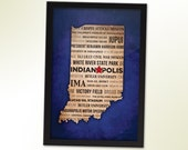 FRAMED Indianapolis, Indiana Typography City Print