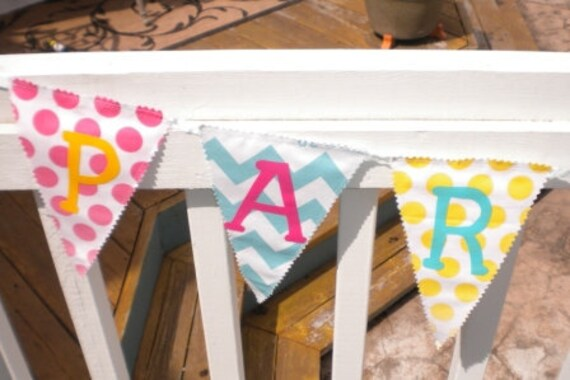 Personalized chevron banner-10 flags