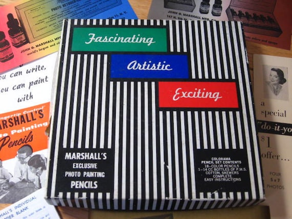 Marshall's Exclusive Photo Painting Pencils - Vintage - Colorama Pencil Set