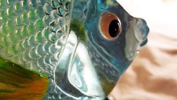 Vintage turquoise fish liquid soap dispenser for Fish soap dispenser