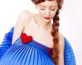 Red Velvet heart. Fashion accessory-transformer.