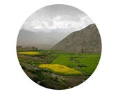 "Harvest time in Himalayas. 8""x10"" print of circular photograph on glossy paper. Nature photography. Perfect for wall decor."