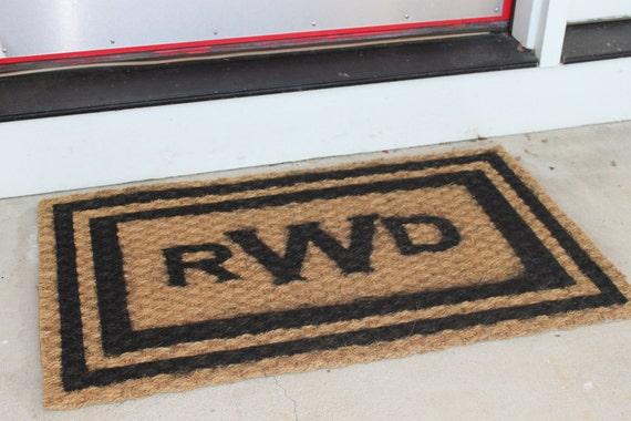 Classic Monogrammed doormat