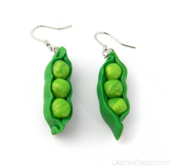 Peas in a Pod Pendant Earrings