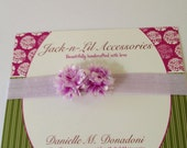 Lavender Purple Glitter  Headband