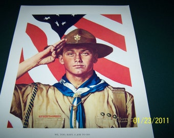 11x14 Original Commemorative Prints ~ Vintage Norman Rockwell boy scouts of America print collection set of 42 ~  In original Box