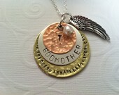 Hand Stamped Jewelry and Godmother/Mothers Necklace