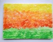 """Yellow Orange and Green 5""""x7"""" Blank card"""