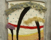 """woven TAPESTRY, tapestry wall, wall hanging fiber art, 3 TREES"""""""