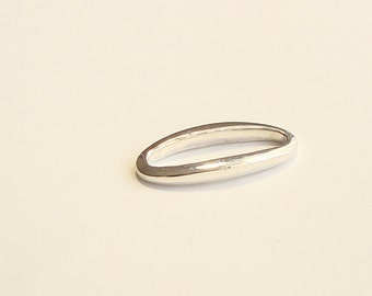 2 pieces, Sterling Silver Oval Link / Connector, 24 mm