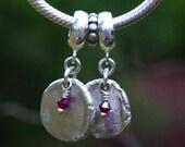 Sterling silver fingerprint charm that fits add-a-bead bracelets